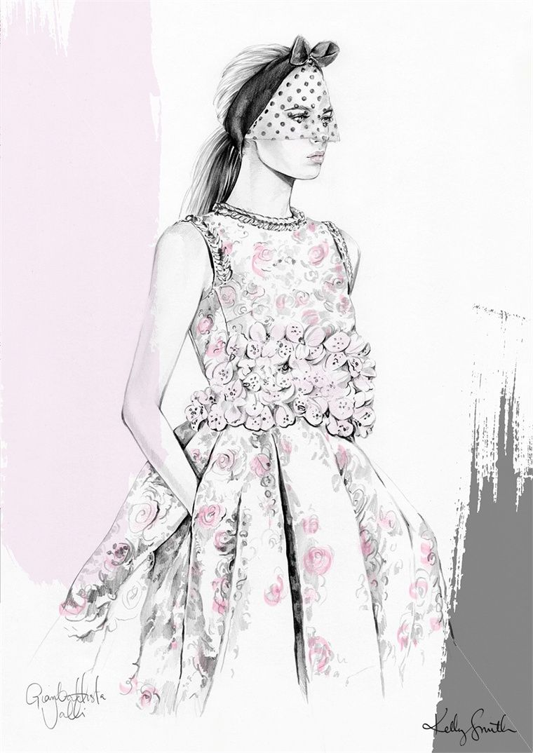 Lady fashion illustration by Kelly Smith