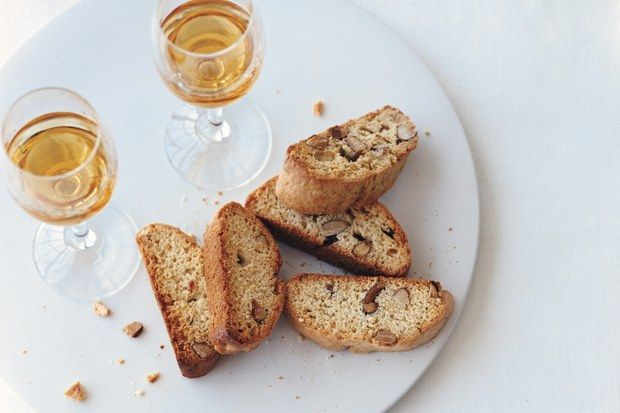 Oltranti doesn't consider himself a baker, but he should. We all agree that his biscotti are among the best we've had. Starting with a lot          of almonds in a sticky dough, his recipe produces crunchy cookies that taste even better a day or two later—if they last that long.