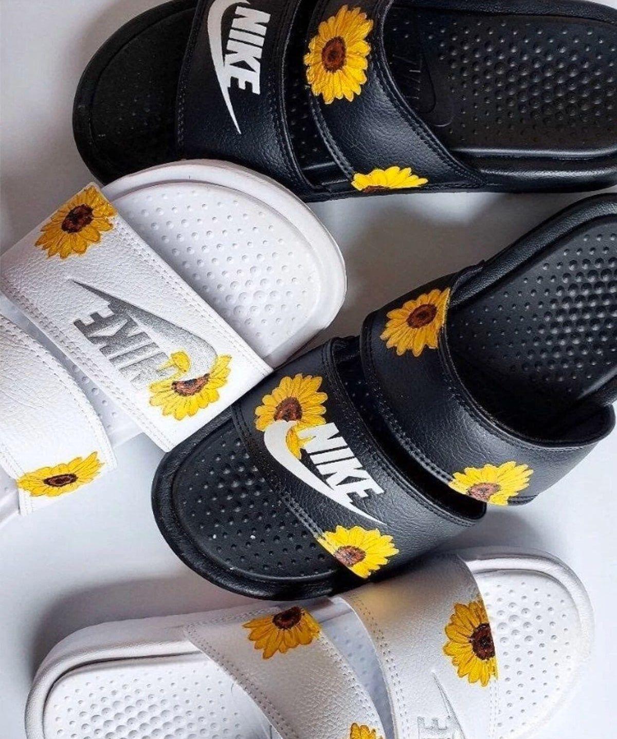 custom sunflower nikes