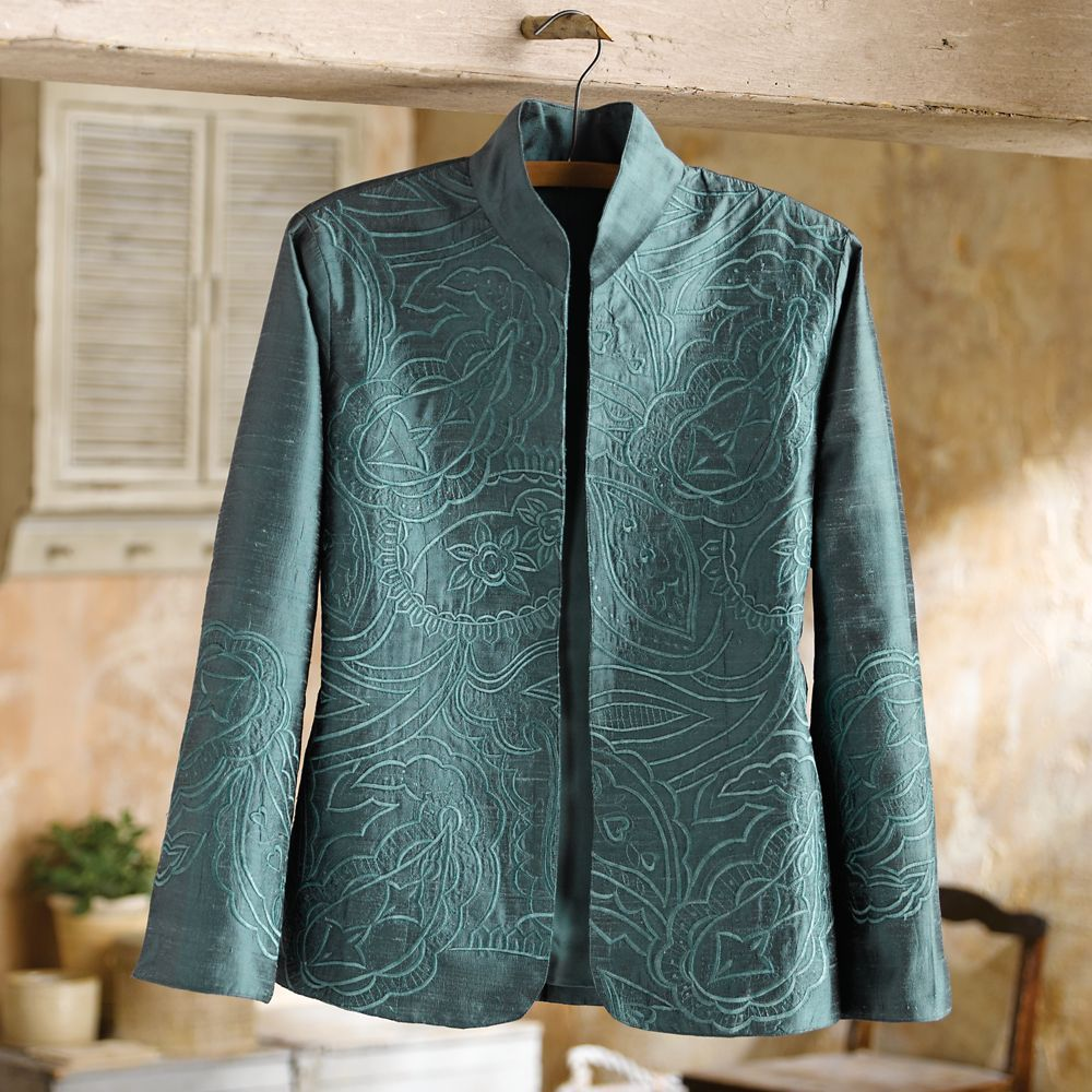 Boteh Embroidered Silk Jacket | National Geographic Store