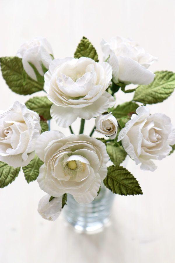 Paper Anniversary Flowers First Wedding Anniversary Bouquet