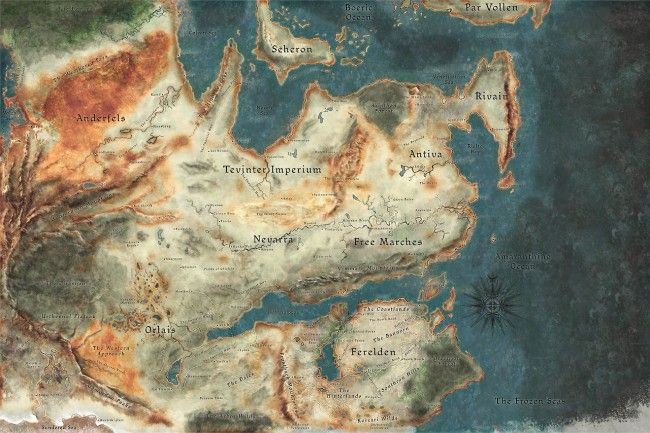 Dragon age Inquisition world map by xkalipso on deviantART   Надо ...