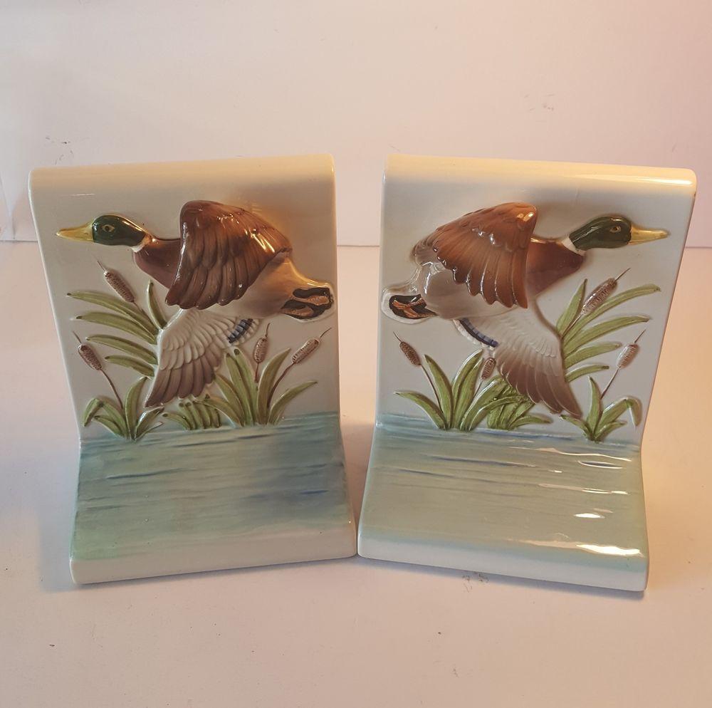 Omc japan gibson greeting cards inc mallard duck bookends m4hsunfo Choice Image