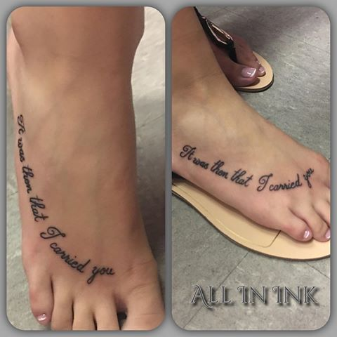 Image Result For It Was Then That I Carried You Tattoo Foot