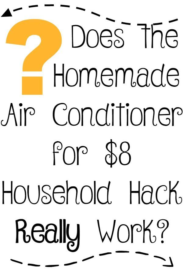 How To Make A Homemade Air Conditioner For 8 Homemade Air