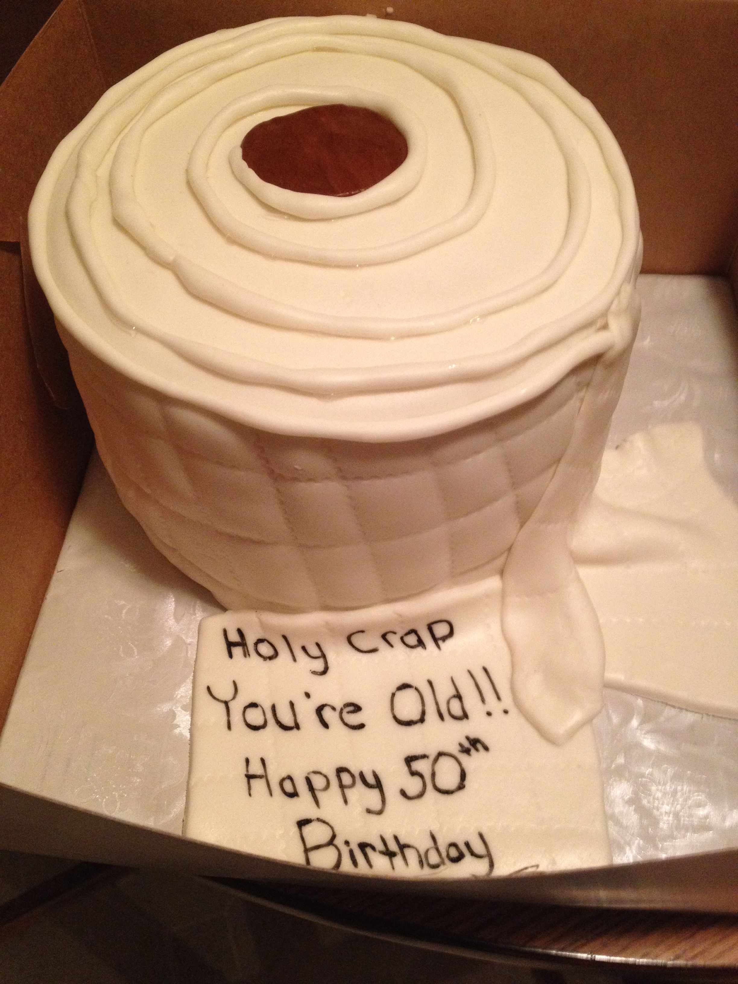Toilet Paper Roll Cake With Homemade Fondant I Think I