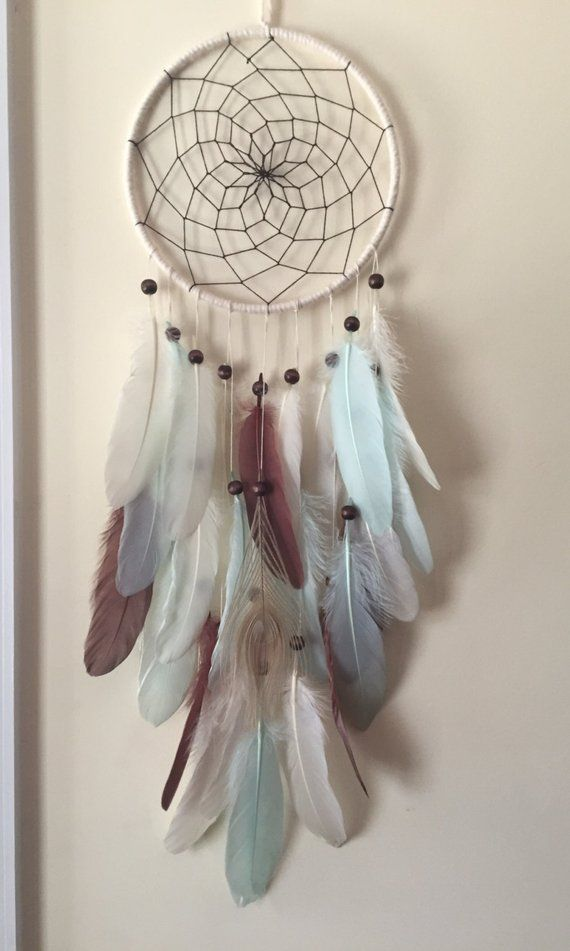 Böhmische Dream Catcher Creme und Aqua Dreamecatcher #dreamcatcher