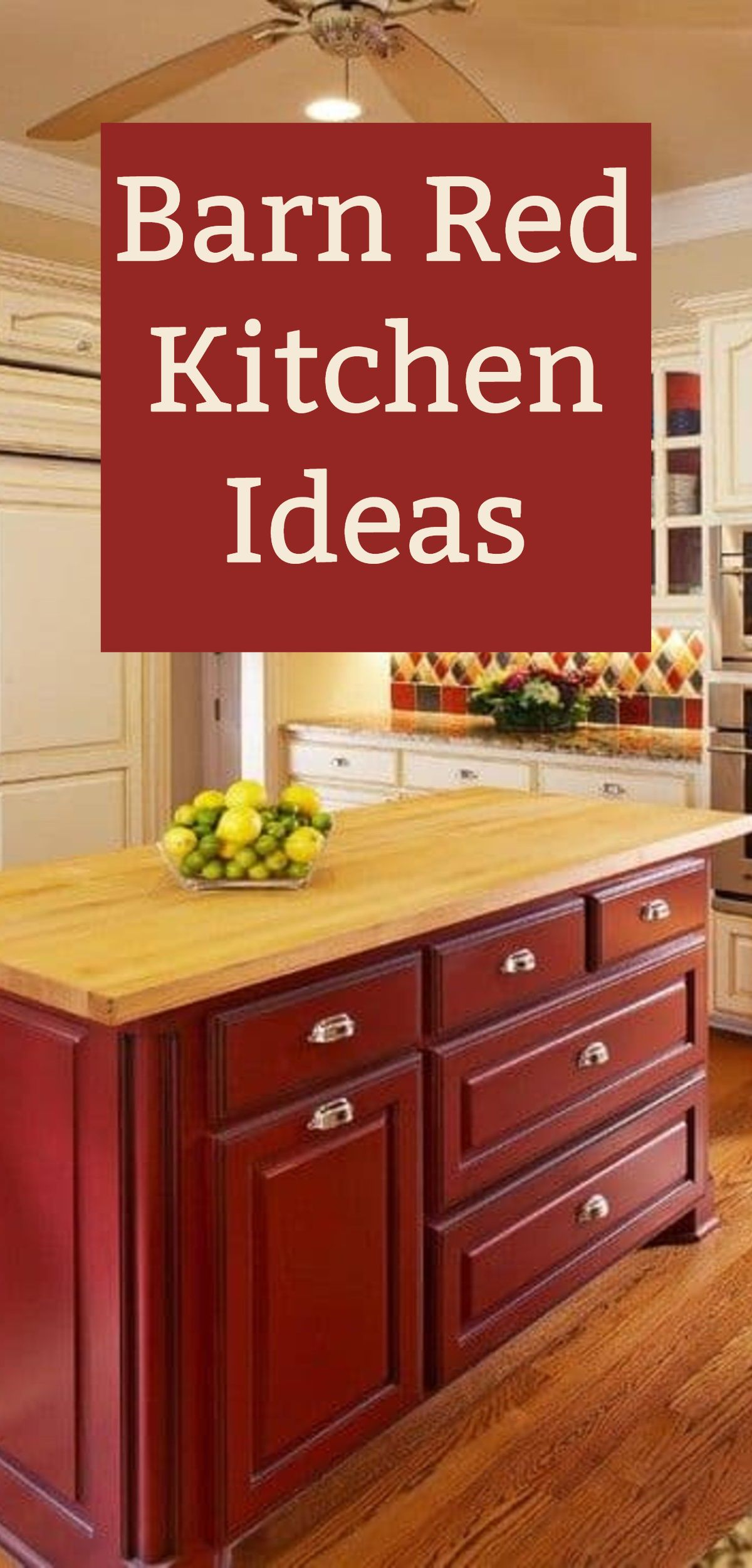 Barn Red Kitchen Decor Ideas Hip Hoo Rae In 2020 Red Kitchen Decor Kitchen Accessories Decor Barn Red Kitchen