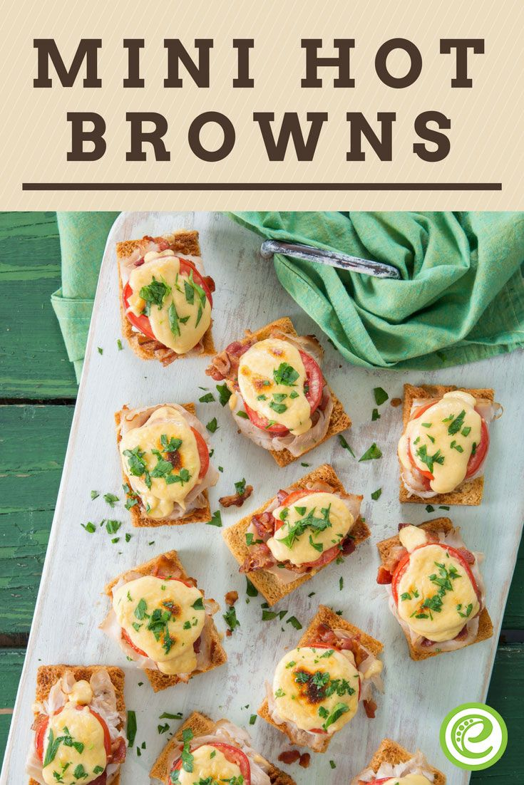 Mini Hot Browns Recipe Hot Brown Appetizers Easy Recipes