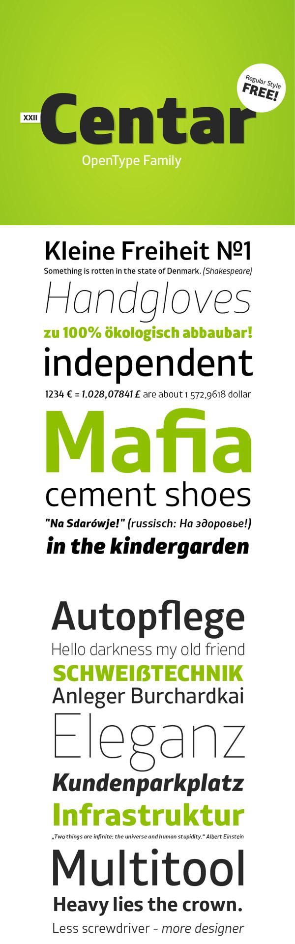 XXII Centar Sans - Free Font