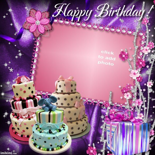 Birthday cakes | my fotos | Birthday photo frame, Birthday frames