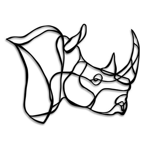 rhino head wooden wall