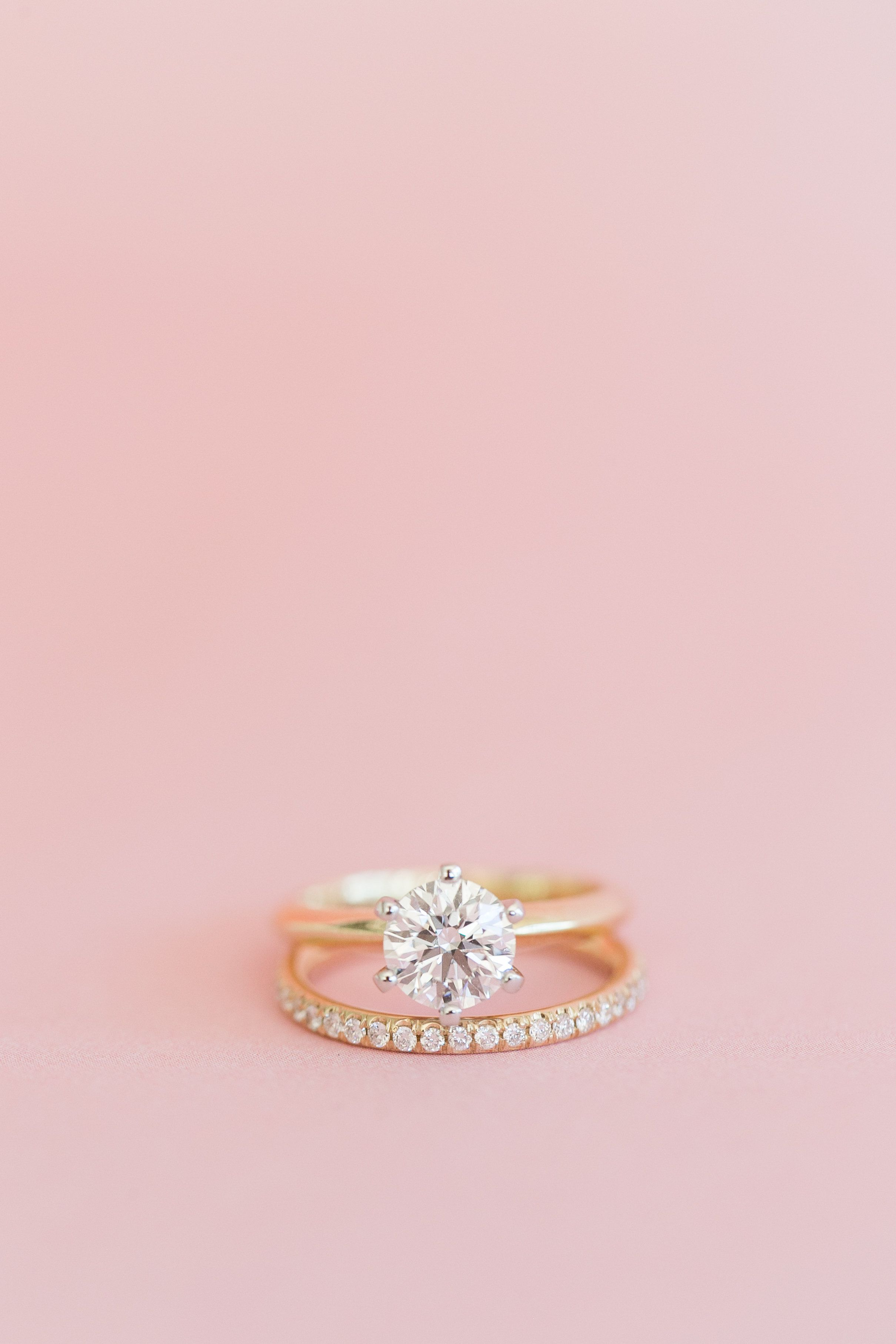 Charming Pink and White Wedding | Engagement, Ring and Gold