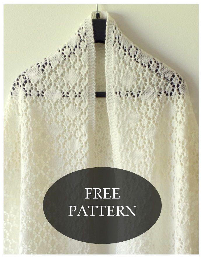 Shawl of Solitaire pattern – Pattern Duchess | Knitting INSPIRATION ...