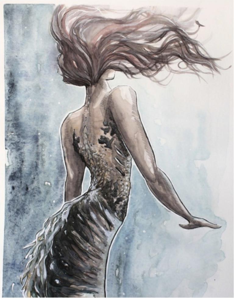 Watercolor Mermaid Paintings Mermaid Painting Watercolor Mermaid Mermaid Art