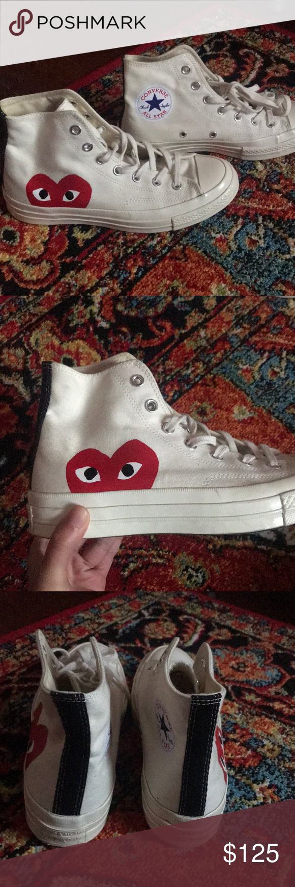 PLAY by COMME DES GARÇON CONVERSE Size W8M6 Play by Comme