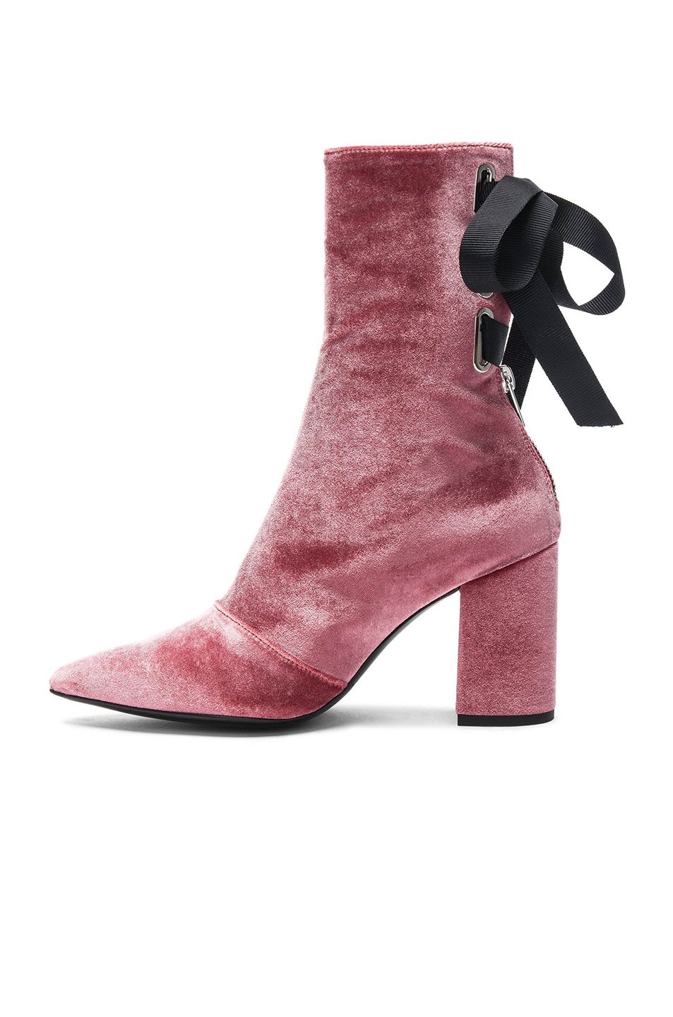 Clergerie Pink Velvet Lexie Boots