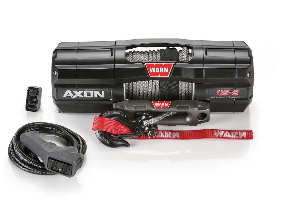 Warn Axon 45 S Synthetic Rope Power Sport Winch Synthetic Rope Winch Warn Winch