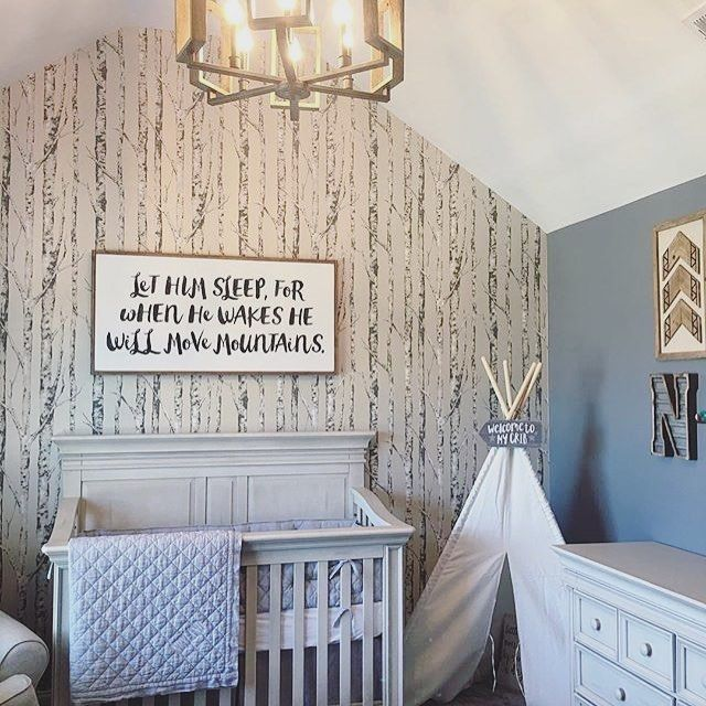 Loving The Mod Woodland Vibes In This Cool Baby Boy Nursery