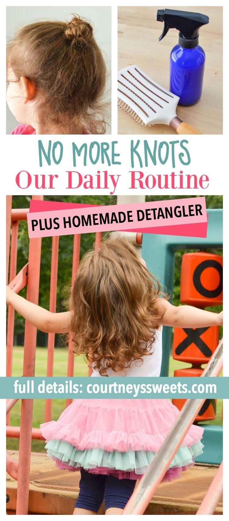 No more knots our daily routine with homemade detangler homemade