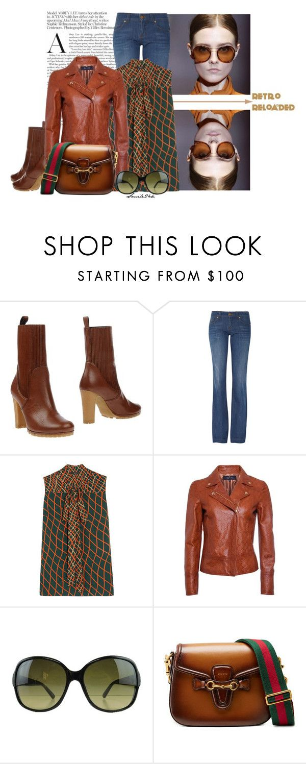 """""""Gucci Printed Blouse"""" by smile24k ❤ liked on Polyvore featuring Gucci, Retrò, women's clothing, women's fashion, women, female, woman, misses and juniors"""