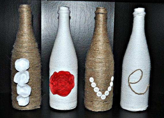 die besten 25 weinflasche vasen ideen auf pinterest weinflasche kunst basteln mit. Black Bedroom Furniture Sets. Home Design Ideas