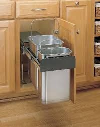 Under Sink Trash Can Pull Out Trash Can Trash Can Cabinet Double Trash Can Trash Kitchen Remodeling Projects Installing Kitchen Countertops Rev A Shelf