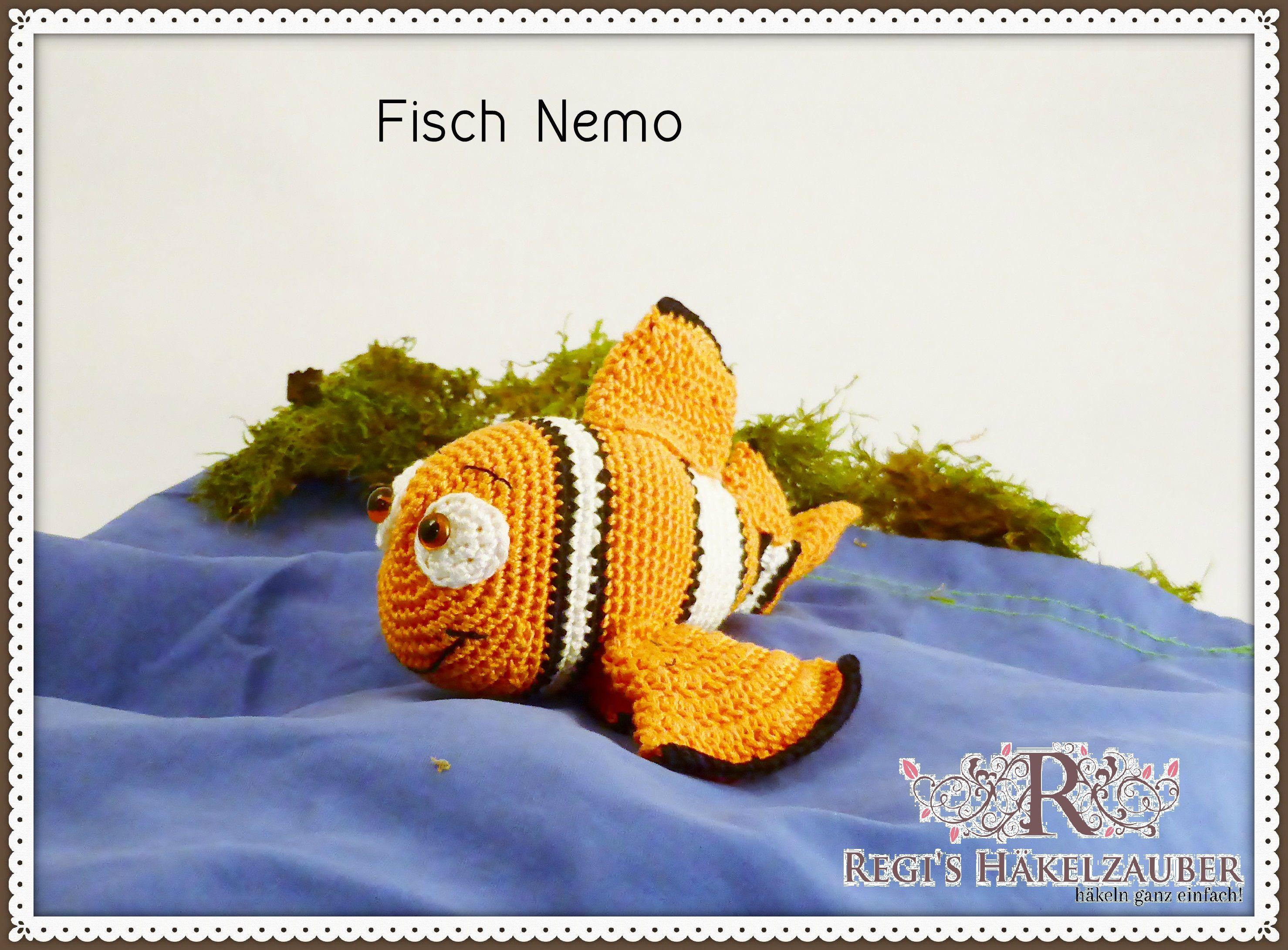 Häkelanleitung Fisch Nemo | Amigurumi Häkelanleitungen | Pinterest