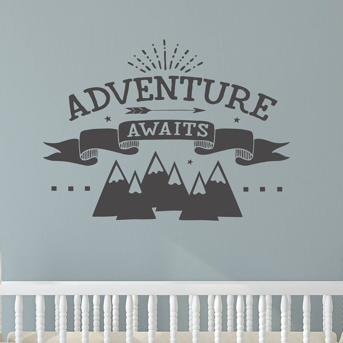 Adventure wall decal nursery decor adventure wall quote adventure wall decal nursery decor adventure wall quote adventure awaits mountain wall amipublicfo Choice Image