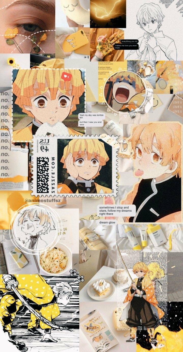 Kimetsu no yaiba Zenitsu icons aesthetic⚡ Animes