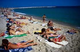 Mar Bella Beach In Barcelona Port Of Spain Mediterranean Coast