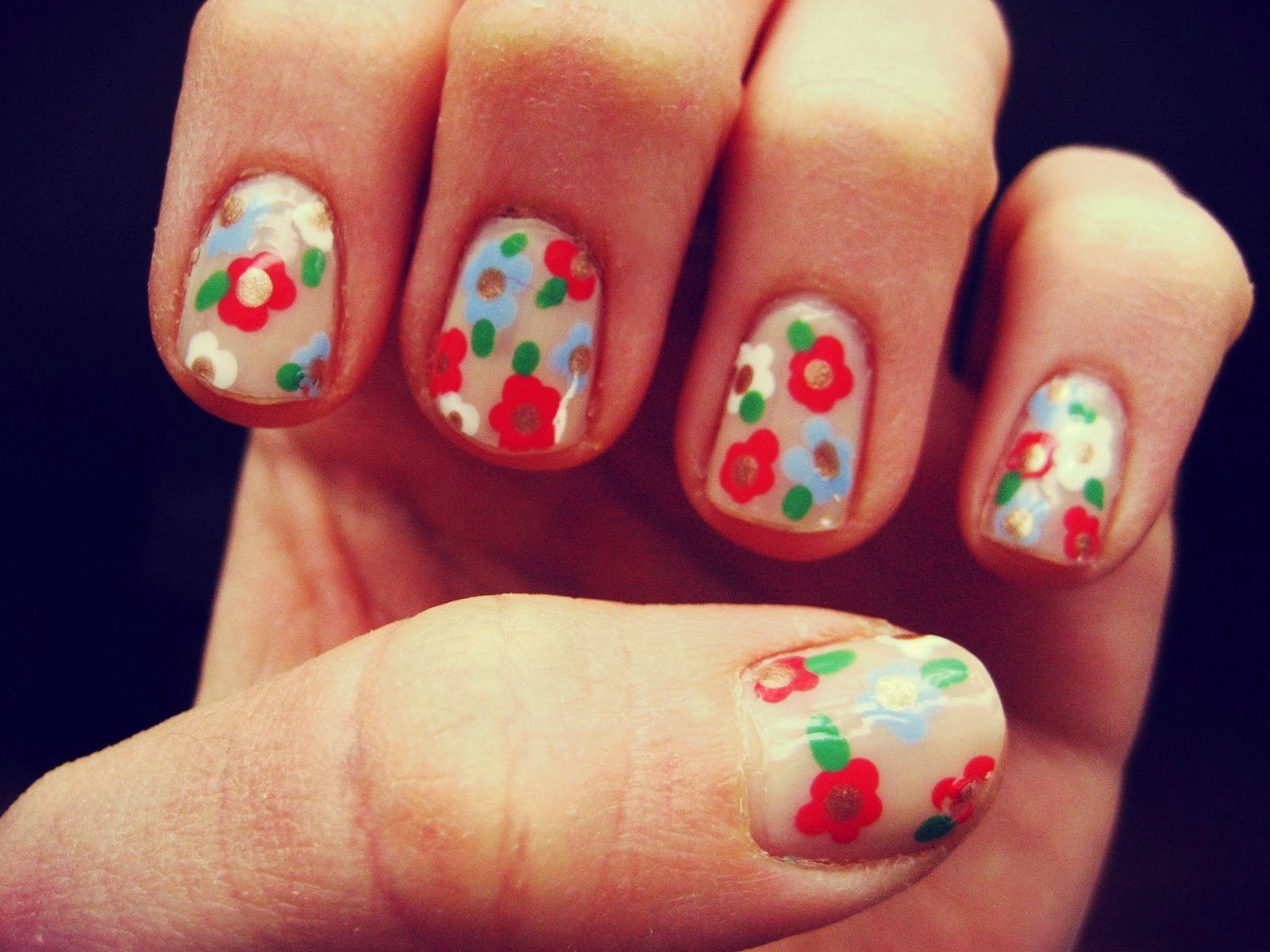 Easy easter nails nails uc pinterest easter nails and pretty hair