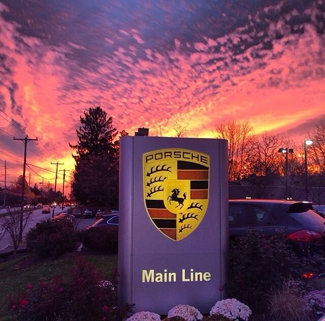 Porsche Of The Main Line During Sunset