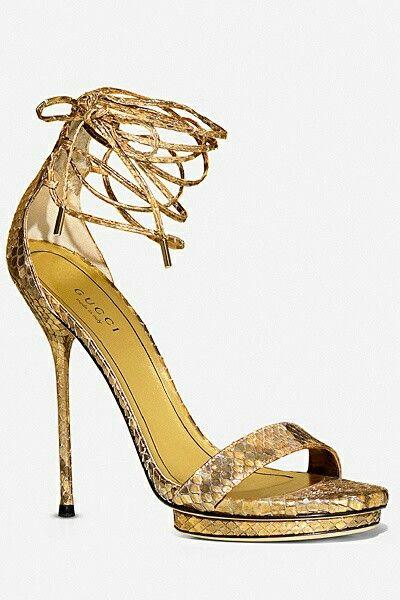 Gold Gucci.