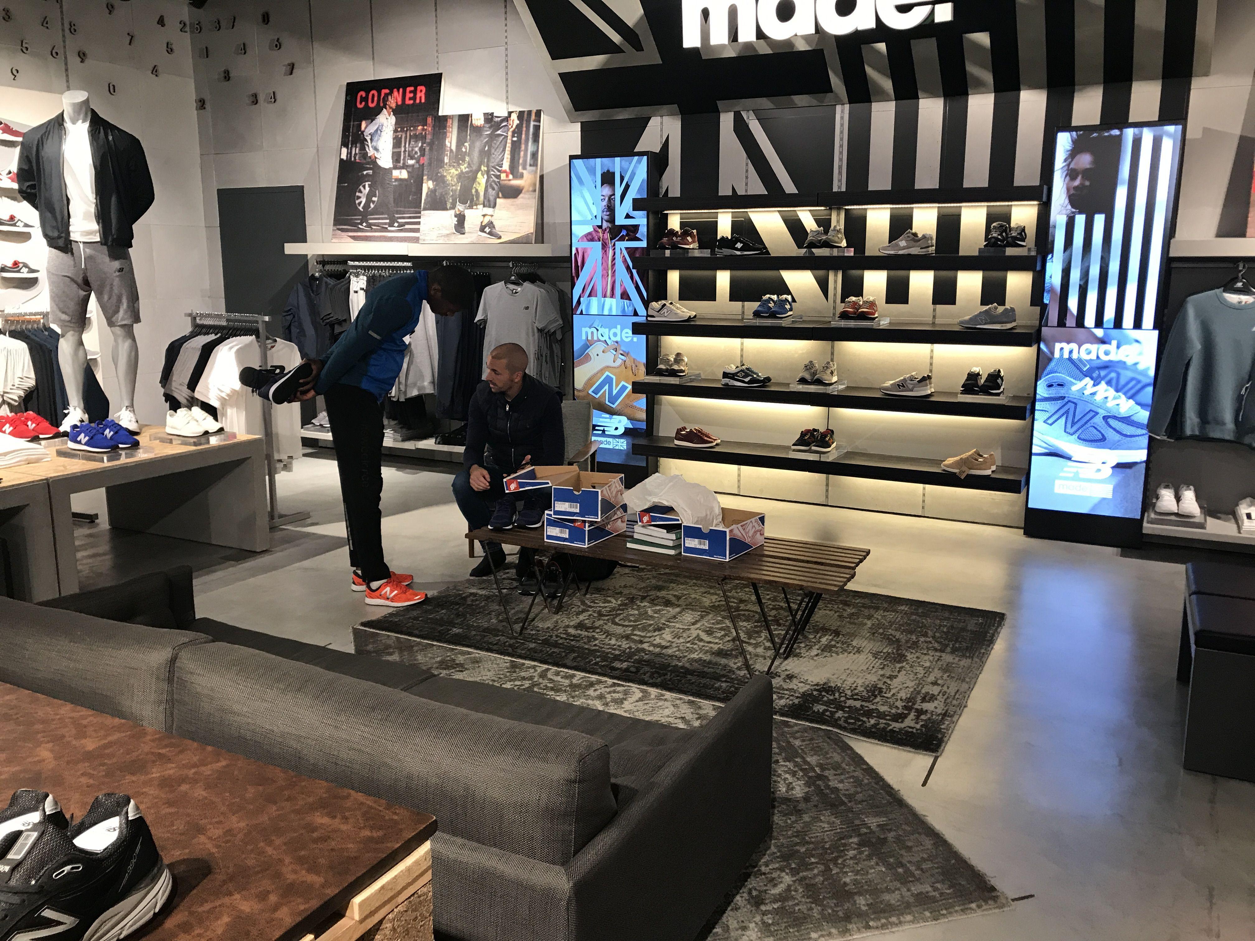 023cf1ed25 New Balance - Central London, April 2017 Footwear area #sportbrands #retail  #vm #visualmerchandising #newbalance #footwear