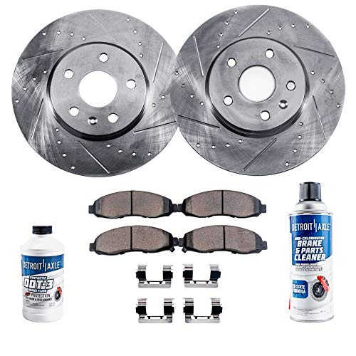 Honda ODYSSEY 2005-2010 Brake Rotors POWERSPORT DRILLED SLOTTED /& PADS FRONT