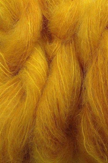 Merino Wool Fibers ~ Mustard Yellow