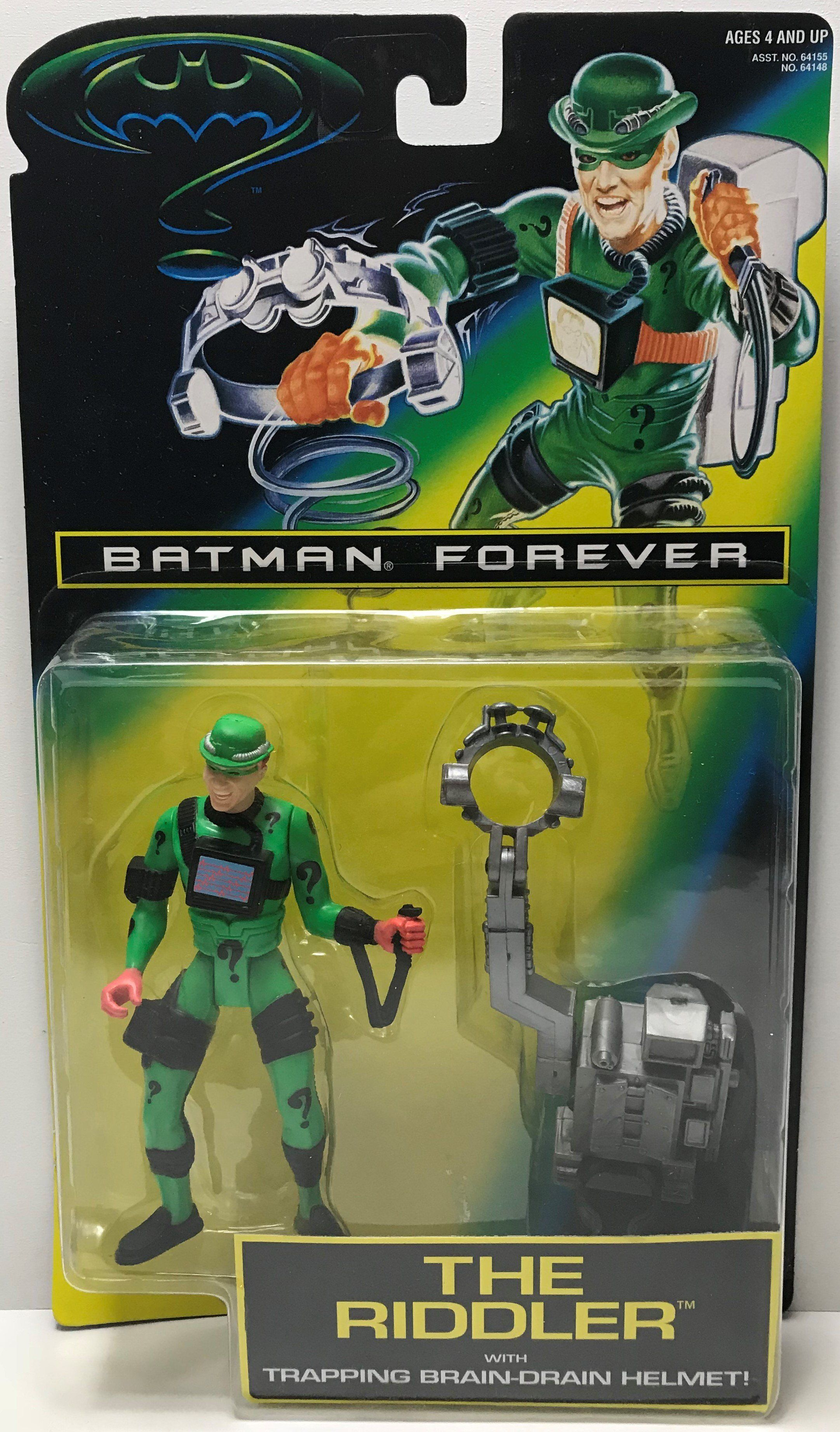 Brand New! Kenner Batman Forever The Riddler with Helmet action figure