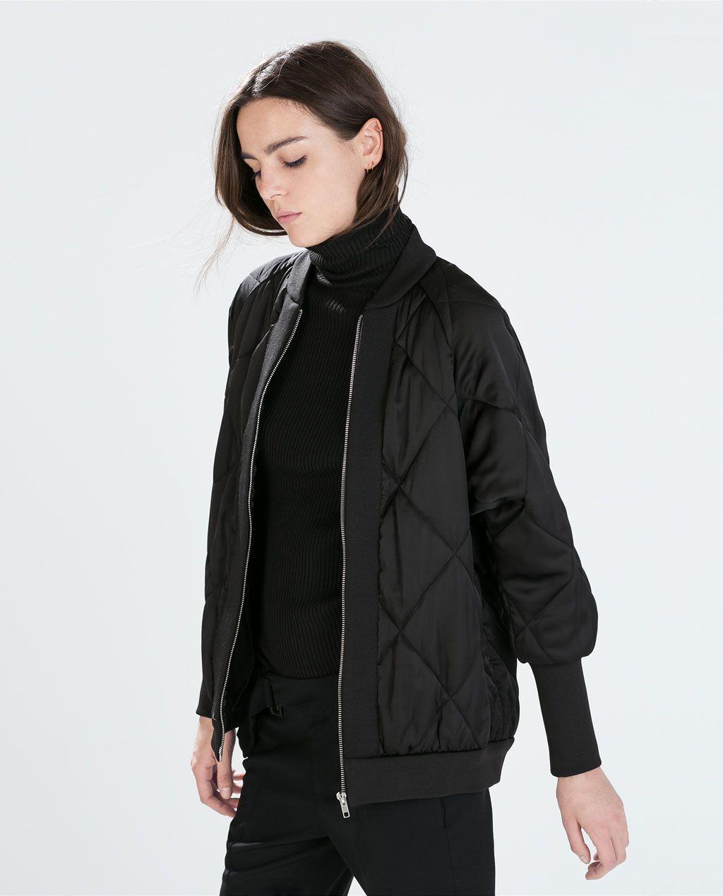 Oversize Bomber Jacket Zara Oversized Bomber Jacket Outerwear Women Oversized Bomber [ 1269 x 1024 Pixel ]
