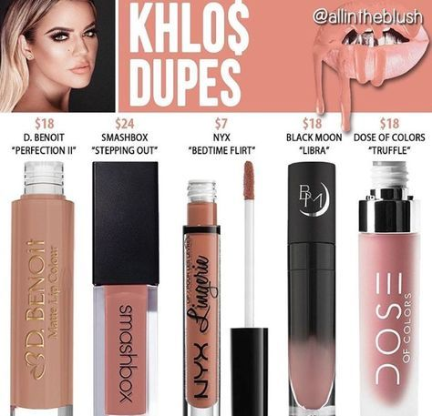 Liquid lipstick dupe in the shade khlo$ // @kathrynglee123