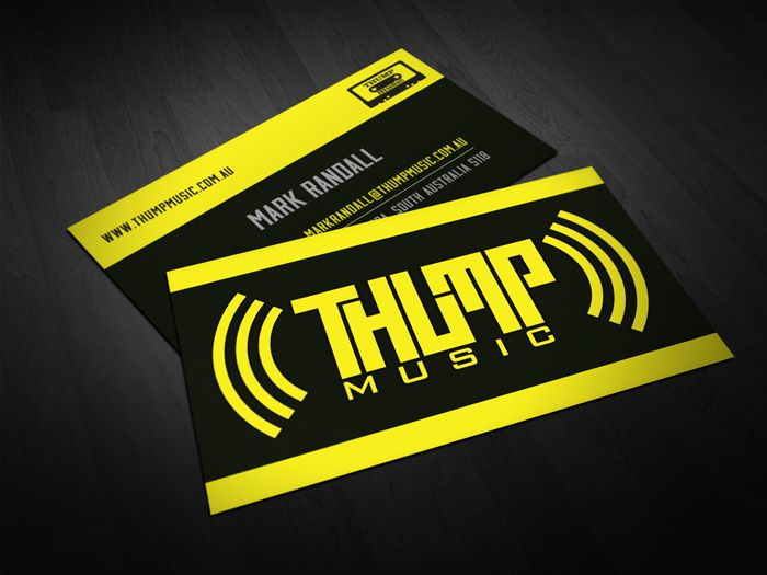 A freshly designed set of business cards for a fresh business thump a freshly designed set of business cards for a fresh business thump httpthumpmusic imports quality products that assist and build musicians in reheart Images