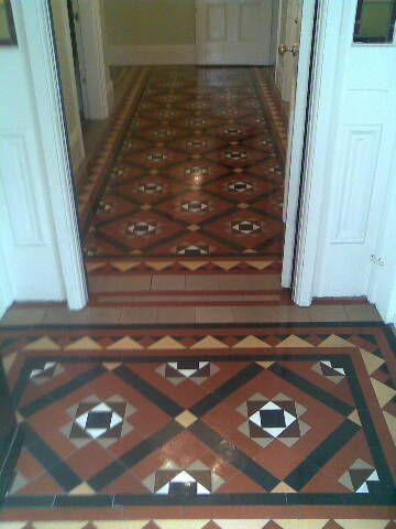 120 Year Old Minton Floor Tiles Restored To There Original