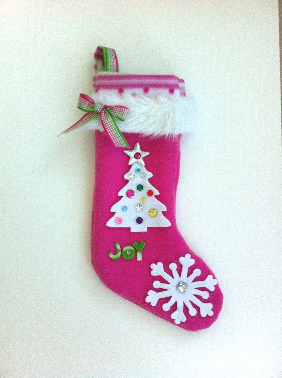 Girls Christmas Stocking. $25.00, via Etsy. | Christmas ...