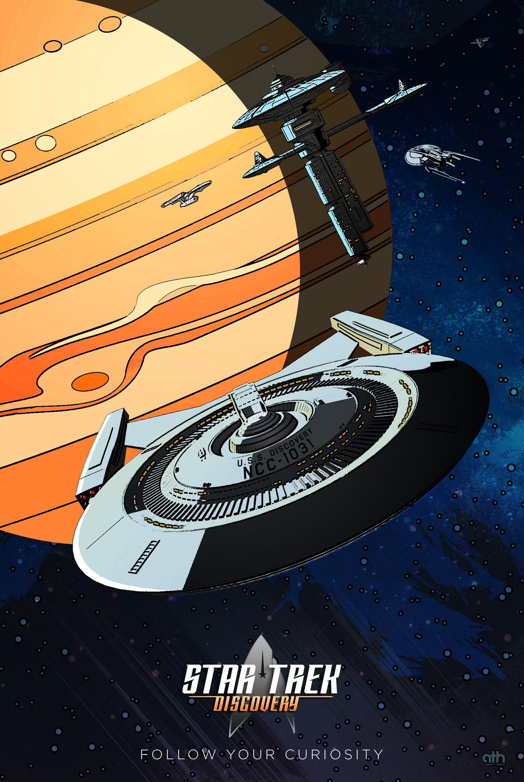 Artstation Star Trek Discovery Follow Your Curiosity Aaron Harvey Star Trek Wallpaper Star Trek Posters Star Trek Characters