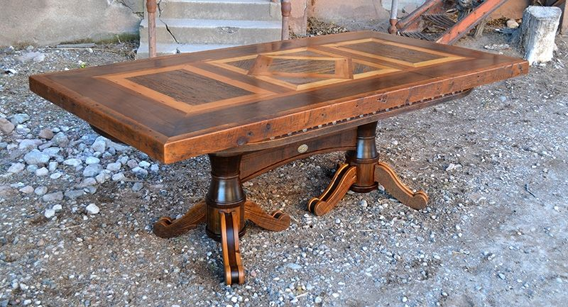 The Three Panel Top Of This Premium Barnwood Table Is Removable, So When  Dinner Is Over The Game Can Begin! Beneath The Ghostwood Panels Lies A Felt  Game ...