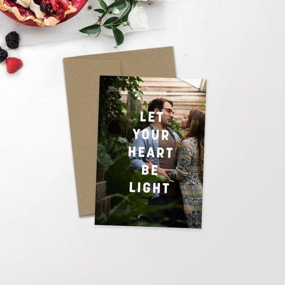 Modern Holiday Photo Card | Minimalist Holiday | Hipster Christmas | Newlywed Christmas | Christmas Card | Custom Card