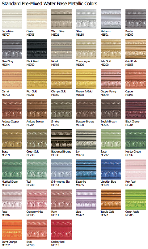 Metallic Paint Collection Colors From Modern Masters