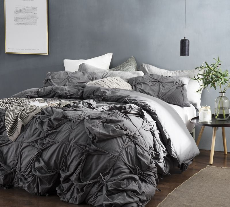 Knots Handcrafted Texture Ties King Duvet Cover Oversized King Xl Dark Gray With Images Duvet Cover Master Bedroom Bed Linens Luxury Gray Duvet Cover