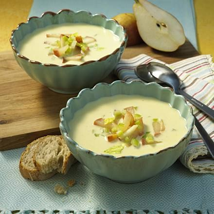 Photo of Gorgonzola Soup with Sherry Pear Recipe | DELICIOUS