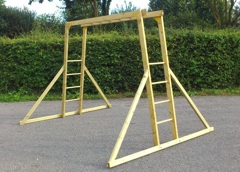 Childrens wooden monkey bars climbing frame in toys